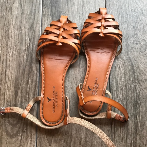 236bd75695e8 American Eagle Outfitters Shoes - American eagle strappy gladiator sandals